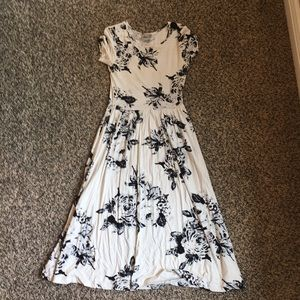 ASOS white with black floral dress
